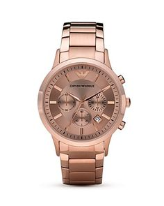 Emporio Armani Sport Rose Gold Plated Watch, 43mm PRICE: $445.00