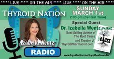 Dr. Izabella Wentz, PharmD joins us LIVE this Sunday, March 1, 2015. Tune in here at 2 pm CT: http://thyroidnation.com/thyroid-nation-radio/ #UnitedWeHeal #ThyroidNationRadio #Thyroid #IzabellaWentz #GratefulGarden #Hypothyroid #Hyperthyroid