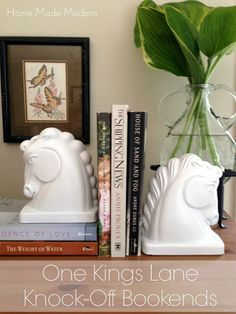 Home Made Modern: Tightwad Tuesday: Faux Ceramic Horse Bookends ala One Kings Lane