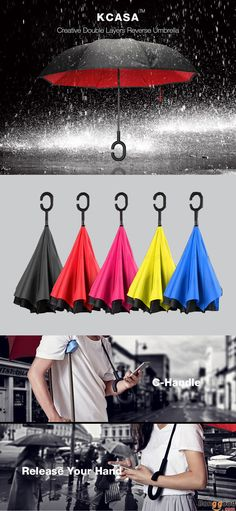 US$18.99 + Free shipping. Creative Reverse Umbrella. Perfect for rainy day. Welocome to visit banggood to see more.