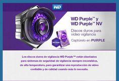 Discos duros para video vigilancia WD Purple y WD Purple NV