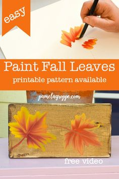 How to Paint Fall Leaves for Autumn Decor How to Paint Fall Leaves, easy painting tutorial for beginners. Learn to paint these pretty fall leaves to put on hand made gifts, greeting cards, DIY signs or a canvas painting! Fun for the entire family. Fall Canvas Painting, Canvas Painting Tutorials, Autumn Painting, Painting Lessons, Canvas Art, Tole Painting, Painting Tips, Easy Painting Projects, Daisy Painting