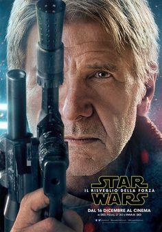Star Wars Il Risveglio della Forza Character Poster - Han Solo (Harrison Ford)