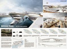 The-Winners-of-Berlin-Contemporary-Bridge-Competition 03 – aasarchitecture Architecture Presentation Board, Presentation Layout, Presentation Boards, A As Architecture, Architecture Posters, Planer Layout, Bridge Design, Design Competitions, Layout Design