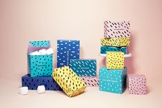 FREE printable gift boxes: fait avec amour ( = created with love)