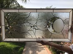Items similar to Gorgeous! Mystical Sun & Moon Stained Glass Window Panel (We do custom work! Please email me for a quick quote) on Etsy Stained Glass Cabinets, Stained Glass Door, Making Stained Glass, Stained Glass Designs, Stained Glass Panels, Stained Glass Projects, Leaded Glass, Beveled Glass, Mosaic Glass