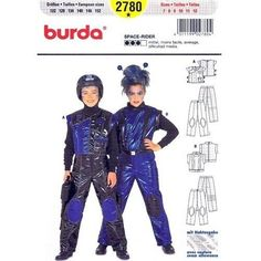 Amazon.com: Burda 2780 Child's Costume Pattern, Astronaut, Space-rider, Size 7 to 12: Arts, Crafts & Sewing