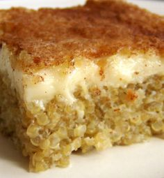 Quinoa Pudding. Protein-packed 'rice pudding'!
