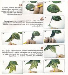 como pintar folhas em tecido - Bing Imagens