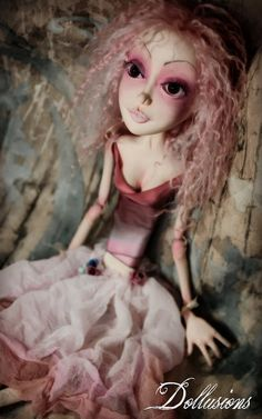 OOAK jointed Art Doll Fairy Princess Lady by SweetDollusions, Felt Crafts Dolls, Sculpture Art, Sculptures, Fairy Princesses, Doll Repaint, Pretty Dolls, Soft Dolls, Ball Jointed Dolls, Artist Art