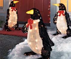 These light up penguin decorations are the perfect way to classy up your Christmas decorations. After all, your neighbor has that tacky inflatable snow globe, your grandma has a singing fish with a Santa hat, but nothing can ever compare to these classy little dudes. Buy It $169.99 via Solutions.com