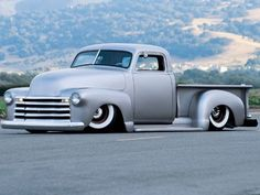 1953 Chevy Truck - Satin Slipper. I would never lower this truck like this. Ever