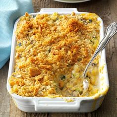"""Summer Squash Mushroom Casserole Recipe -This rich, creamy side with its crunchy topping would make a wonderful dish to take to summer potlucks and picnics, or to pair up with a wide variety of entrees. You'll love the buttery flavor of these """"comfort veggies!"""" —Jennifer Wallace, Canal Winchester, Ohio"""