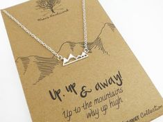 Mountain Necklace - Geometric Necklace, Dainty Necklace, Hipster Jewelry, Gift for Hiker, Mountain Range Necklace - Christmas Gift for Her