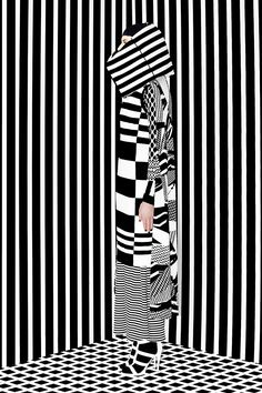 L i n e on behance types of lines, opt art, fashion line, fashion, trop Fashion Line, White Fashion, Op Art, Fashion Window Display, 60s And 70s Fashion, Damier, Illusion Art, Border Print, Fashion Sketches