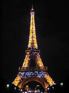 The Eiffel Tower - love the glittering lights