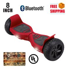 """8"""" Bluetooth Hoverboard Hover Hummer Self Balancing Electric Balance Scooter Red"""