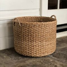 These wicker baskets are expertly crafted by artisans in Nicaragua that create a beautiful weave that transforms into a modern organizing basket. Perfect storage for pillows, blankets, toys, books and magazines in your living area, nursery, bedroom, and bathroom. Every basket is made using fair trade practices and provides economic empowerment for local artisans in Nicaragua.  Fabric Storage Boxes, Fabric Bins, Storage Containers, Storage Bins, Metal Baskets, Large Baskets, Woven Baskets, Wicker Storage Baskets, Basket Weaving