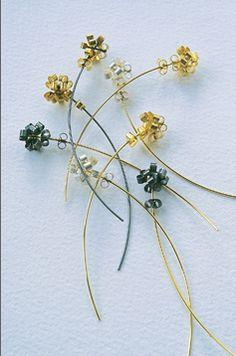 LIN CHEUNG-UK- Memoria Ear Pins (silver, gold)