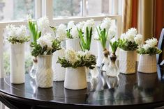 """Cute winter vase covers, made from the leftover sleeves in """"Make A Sweater Pillow In 30 Minutes"""" Pretty Good, How To Look Pretty, Fake Pumpkins, Painted Glass Vases, Sweater Pillow, Savvy Southern Style, How To Make Pillows, Pillow Forms, Glass Containers"""