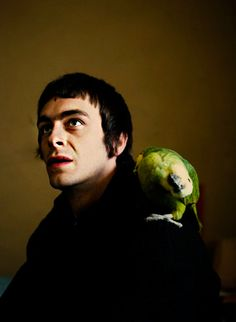 Woody and his parrot.