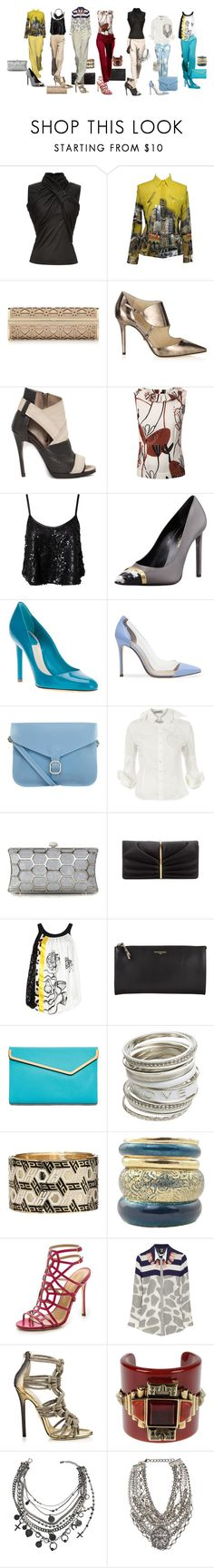 """""""I love pants"""" by gorica-stojilkovic ❤ liked on Polyvore featuring Jason Wu, byblos, House of Holland, Bouchra Jarrar, Versace, Jimmy Choo, McQ by Alexander McQueen, Marni, Oneness and Yves Saint Laurent"""