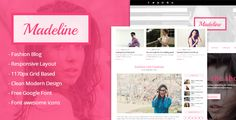 awesome Madeline Style Weblog WordPress Theme (Private)