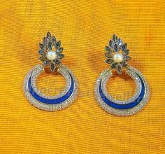Blue Sapphire Victorian Earrings