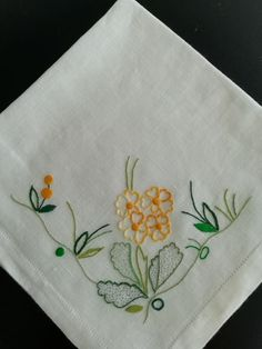 Goodbye Message, Hand Embroidery Designs, Small Flowers, Embroidered Flowers, Machine Embroidery, Patches, Sewing, Fabric, Dish Towels