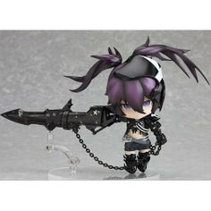 Japanese Anime Black Rock Shooter Action Figures Collectibles PVC Figure Anime Figures by Creative Craft. $29.99. Black Rock Shooter. The size details: figure height:10cm. Please note:High quality from China,Reference figure in the band box diagram. Can be equipped with pedestal movable!!! Props!. Be made with material  PVC·ABS. This action figure is made from high quality, also as a great gift on Christmas,birthday or other holidays.
