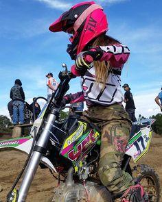 Motocross Love, Motocross Girls, Motorcycle Dirt Bike, Motorbike Girl, Motorcycle Quotes, Lady Biker, Biker Girl, Triumph Motorcycles, Custom Motorcycles