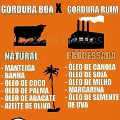 Fica a dica na hora de fazer escolhas! 😉 #healthyfood #saudável #gorduraboa