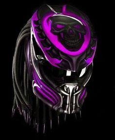 Predator motorcycle helmet pink magenta or purple skull (dot certified) Motorcycle Events, Motorcycle Helmets, Women Motorcycle, Racing Helmets, Motorcycle Types, Motorcycle Jacket, Biker, Magenta, Purple