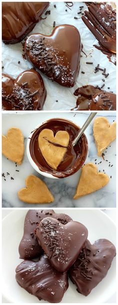 Chocolate Covered Peanut Butter Hearts - Easy and delicious!