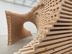 Wooden Art Installation Morphs Based on Your Perspective (6 pictures)