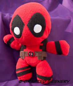 Handmade Deadpool Plush Toy by CraftedGeekery on Etsy