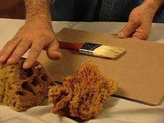 Cómo pintar con una esponja - YouTube