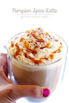 Homemade Pumpkin Spice Latte   gimmesomeoven.com