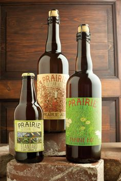 Brewery to watch: Prairie Artisan Ales. Tried the golden ale (yellow bottle). totally blew my mind. This was my discovery of a whole other realm of flavor variety that is considered a beer. 6.5% ABV to get the party started