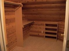 Carriage House Plans, Cedar Closet, Closet Storage, Closets, Basement,  Garage,