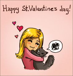 Valentine's Day from Catsu! Valentine's Day from Catsu! Crazy Cat Lady, Crazy Cats, Cute Cats, Funny Cats, Cats Humor, Cat Fun, Catsu The Cat, Jellicle Cats, Simons Cat