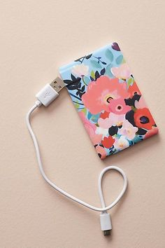 KT Smail Picturesque Florals Portable Power Charger