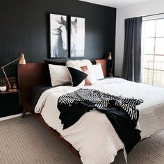 39 Rustic Farmhouse Bedroom Design and Decor Ideas To Transform Your Bedroom - The Trending House Bedroom Inspo, Home Decor Bedroom, Modern Bedroom, Masculine Master Bedroom, Bedroom Ideas, Bedroom Designs, Neutral Bedrooms, White Bedrooms, Masculine Home Decor