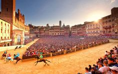 "Imagine if the Kentucky Derby was more like a Roller Derby...staged in Times Square...it might look something like the Palio di Siena.    ""Il Palio"" is a bi-annual cultural extravaganza in the picturesque Tuscan town of Siena. Quite simply, there is nothing like it anywhere else in the"