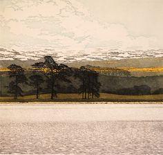 Pine Water, Phil Greenwood Etching at Norton Way Gallery Hertfordshire