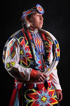 Traditional Native American hoop dancer