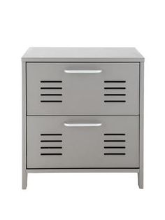galvanized metal furniture for a teen room   ... nightstand ...