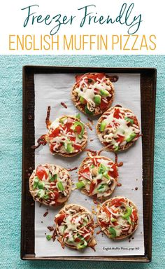 These freezer-friendly English Muffin Pizzas are something all ages enjoy, and you can easily double and freeze extras for later. Freezer Friendly Meals, Healthy Freezer Meals, Make Ahead Meals, Freezer Cooking, Healthy Foods To Eat, Kids Meals, English Muffin Pizza, Whole Wheat English Muffin, Real Food Recipes