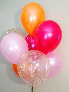 Fall Latex Balloons Pink and Orange Balloons Fall Balloons