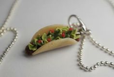 Taco Necklace by sweetandsavorytrinkets for $12.00